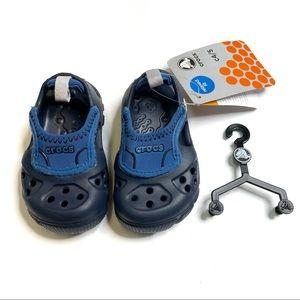 Crocs Micah Kids Navy & Sea Blue Sandal Size C4/5